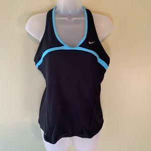 Nike Blue Striped Dri Fit Tank, Size XL
